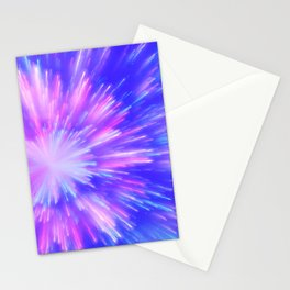 Blue and Purple Firework Flare Stationery Cards