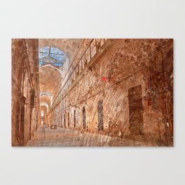 Battered Prison Corridor Canvas Print