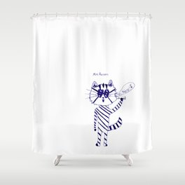 Mrs. Raccoon by Grady Gilmore Shower Curtain