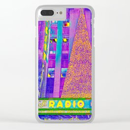 Radio City Music Hall with Holiday Tree, New York City, New York Clear iPhone Case