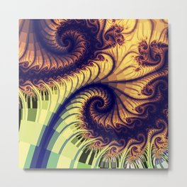 Abstract spirals and patterns Metal Print