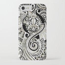 Maori tribal design iPhone Case
