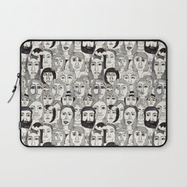 Faces in the Tube Laptop Sleeve