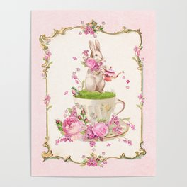 Bunny Tea Party Poster