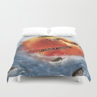 roald dahl Duvet Covers featuring James And The Giant Peach. by Jamie Briggs