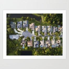 Somewhere Down South  |  Drone Photograpy Art Print