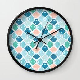 Bright Fish Silhouette Wall Clock