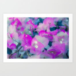 silk  painting Art Print