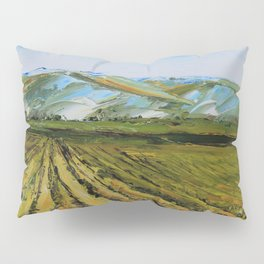 Colors of Napa Valley ll by Lisa Elley, Palette Knife Painting in oil. Pillow Sham