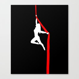 Aerialist Silks Spilt Sugar Canvas Print