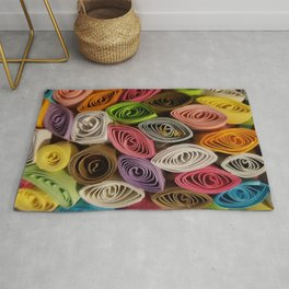 Colorful Quilled Paper Art by Daniel MacGregor Rug