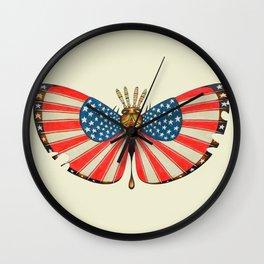 patriot moth (ORIGINAL SOLD). Wall Clock
