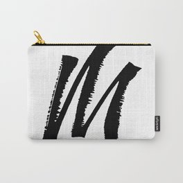Letter M Ink Monogram Carry-All Pouch