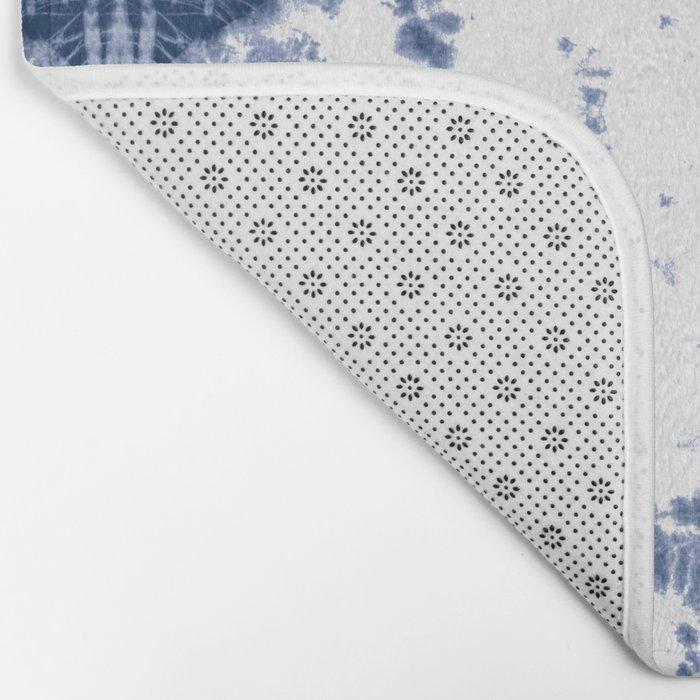 Shibori Tie Dye 5 Indigo Blue Bath Mat