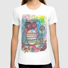Whimsy Whimsical Owl Watercolor T-shirt