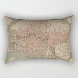 Vintage Map of Antwerp Belgium (1868) Rectangular Pillow