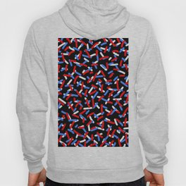 Brush Confetti Red and Blue Hoody