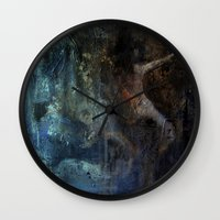 imagerybydianna Wall Clocks featuring Liu's song by Imagery by dianna