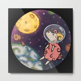 Space Sheep Metal Print