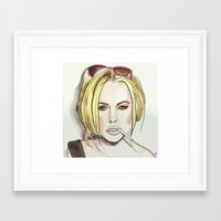 lindsay lohan Framed Art Prints featuring Lindsay by Young Daniel Cant
