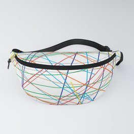 """""""5, 6 Pick Up Sticks"""" Geometric Colorful Lines Fanny Pack"""