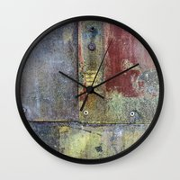 heavy metal Wall Clocks featuring Heavy Metal by Bestree Art Designs