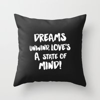 lyrics Throw Pillows featuring Rhiannon Lyrics  by cbprints