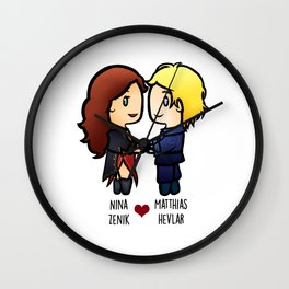 Nina x Matthias - Six of Crows Wall Clock