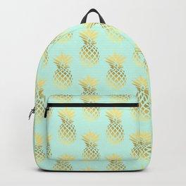 Cute faux gold & mint pineapple pattern Backpack