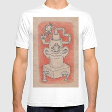 Tea Time MEDIUM Mens Fitted Tee White