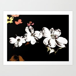 The Artistic Touch Of Dogwood Blossoms Art Print