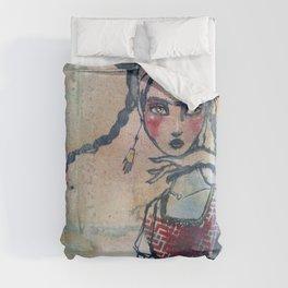 Frida is an Emotion by Jane Davenport Duvet Cover
