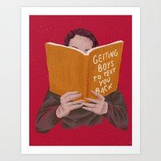 Studying (Gender Swap) Art Print