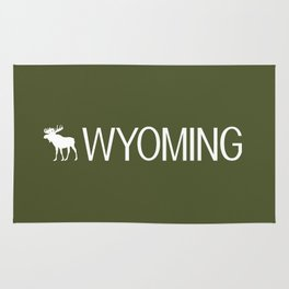 Wyoming: Moose (Mountain Green) Rug