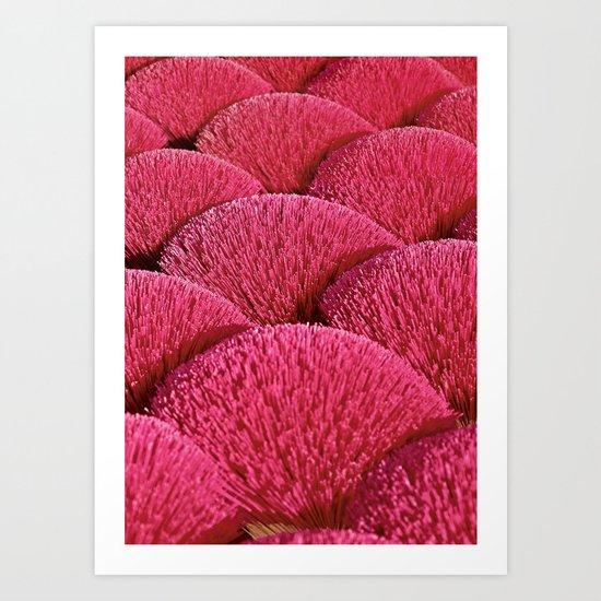 Incense Sticks - Vietnam - Asia Art Print
