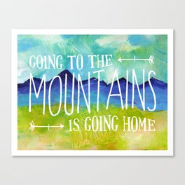 Going to the Mountains, Tetons Landscape Canvas Print