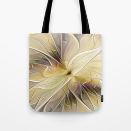 Floral Beauty, Abstract Fractal Art Flower Tote Bag