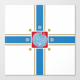 flag of Tbilisi Canvas Print