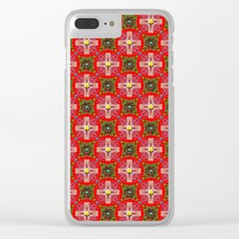 Christmas Garden Pattern Clear iPhone Case