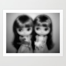 Ghostly Twins Art Print