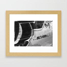 BW Baltimore Framed Art Print