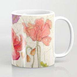 Watercolor Poppy Painting,Poppy Batik, Watercolor Batik,Poppy Watercolor, Wall Art, Floral Art, Coffee Mug