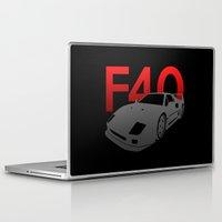 ferrari Laptop & iPad Skins featuring Ferrari F40 by Vehicle