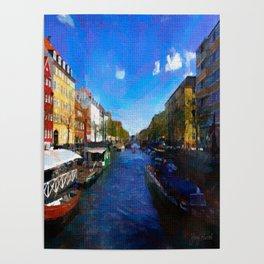 Strolling through Nyhavn Poster