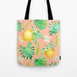 Citrus Tropics - Pink Tote Bag