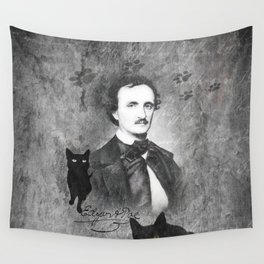 The Black Cat - E. A. Poe Wall Tapestry