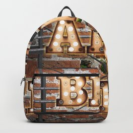 Bed and Breakfast -  Wall-Art for Hotel-Rooms Backpack