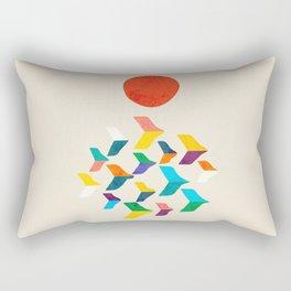 Great Bird Migration Rectangular Pillow