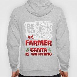 Christmas T-Shirt Be Nice To The Farmer Apparel Xmas Gift Hoody