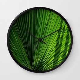 Palm Leves Wall Clock